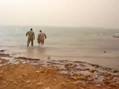Download Youtube: Euphrates River Baptism Rawa Iraq. Stephen Stromberg being baptized shot from another angle.