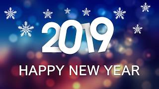 2019 Happy New year Photoshop CC Tutorial Design for banner celebration poster