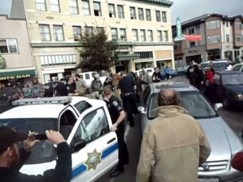 Occupy Arcata's First Police Incursion