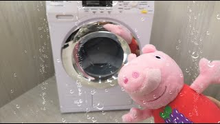 Свинка Пепа и Детская стиральная машина!