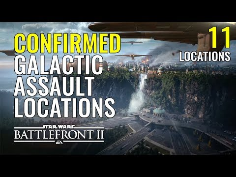 Star Wars Battlefront 2 Galactic Assault Locations Revealed!