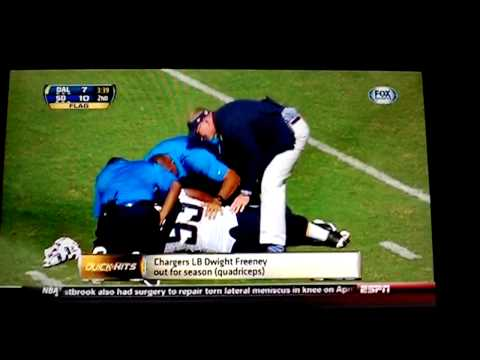 Dwight Freeney out for the season with Torn Quadriceps!!