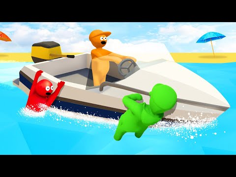 HOLD ON To The 350MPH SPEEDBOAT! (Human Fall Flat)