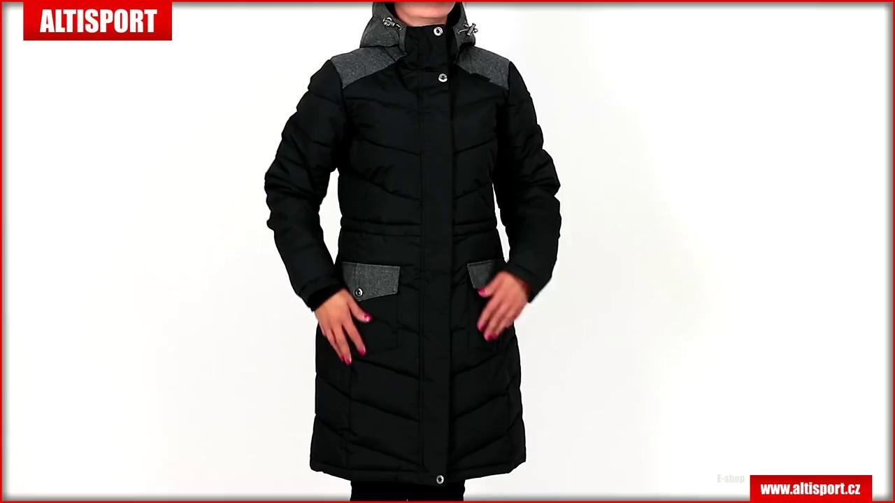 dámský kabát alpine pro tessa lctk053 černá - YouTube 8c7e9aff86