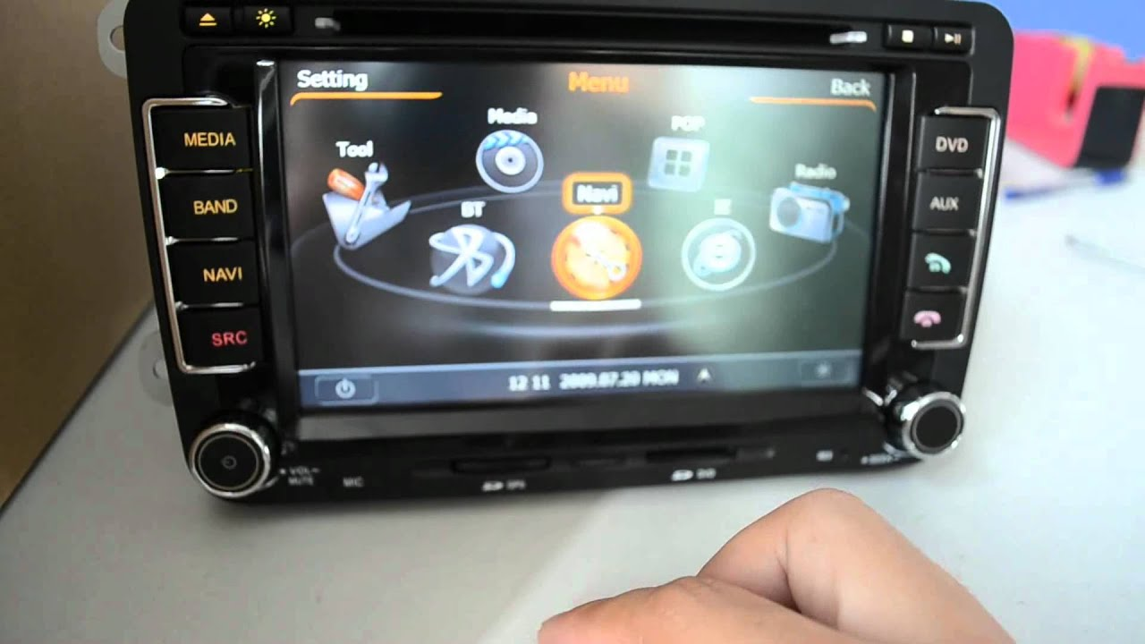 How To Set The Gps Path And Run Igo 8 3 On Vw Glof 6