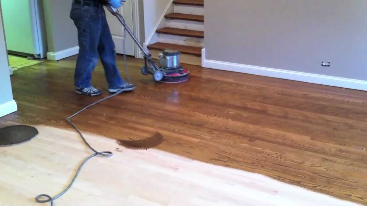 Staining Hardwood Floor In Naperville Youtube