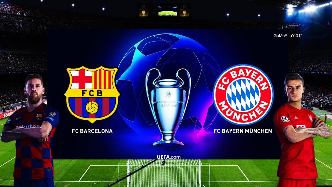 Pes 2020 Barcelona Vs Bayern Munich Uefa Champions