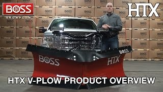 htx v plow product overview   boss snowplow