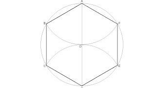 Hexágono regular inscrito en una circunferencia