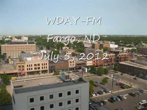 WDAY FM Fargo, ND July 5, 2012