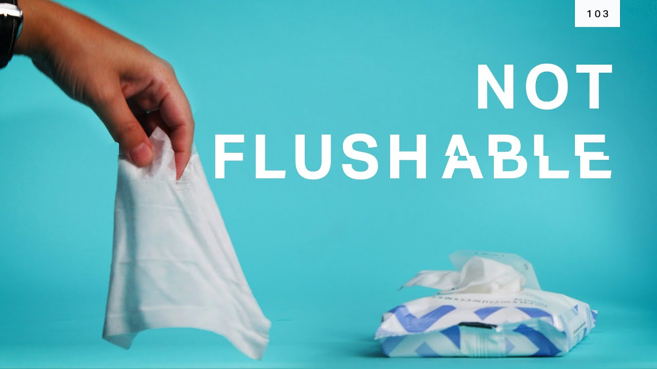 """""""Flushable"""" wipes are ruining sewage plants"""