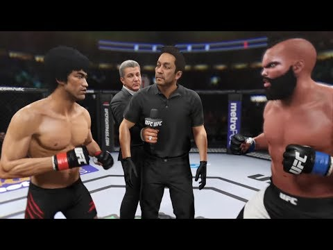 Bruce Lee vs. Mr T (EA Sports UFC 2) - CPU vs. CPU