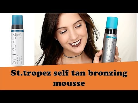 St Tropez Self Tan Bronzing Mousse Reviews 2018 | Best mousse,  tanning cream,  Tanning  spray