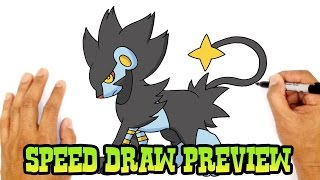 Luxray (Pokemon)- Speed Draw Preview