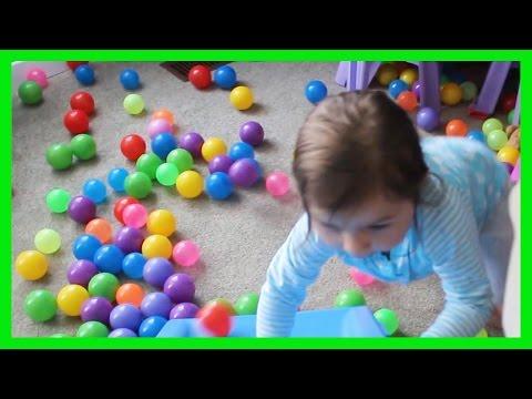 Playground Swings Little Tikes Slide Colored Balls Fun Toddler Video