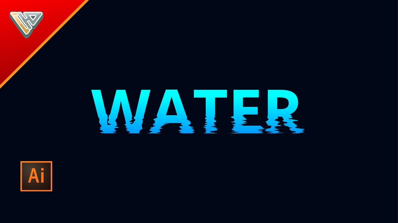 How To make a Text Effect Water Waves | Illustrator Tutorials