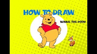 How to draw Winnie the Pooh - STEP BY STEP GUIDE - ART LESSON