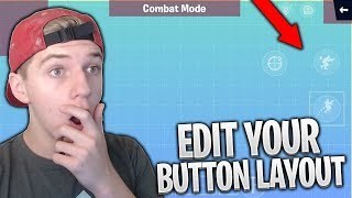*NEW* How To Edit Your BUTTON LAYOUT in FORTNITE MOBILE!! HUD Layout Tool Tutorial
