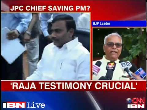 Yashwant Sinha says JPC chief is protecting PM