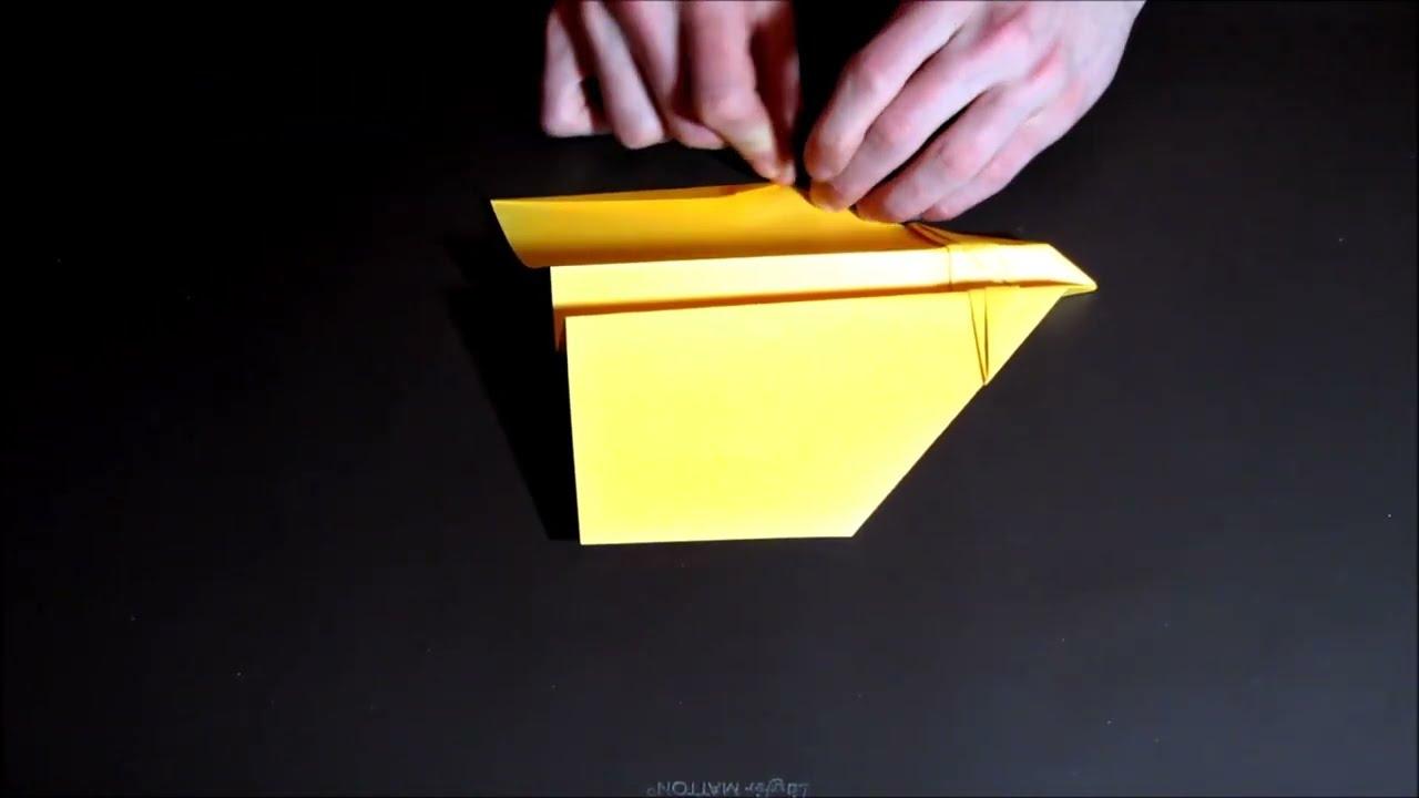 Comment Faire Un Avion En Papier Qui Vole Très Bien Et