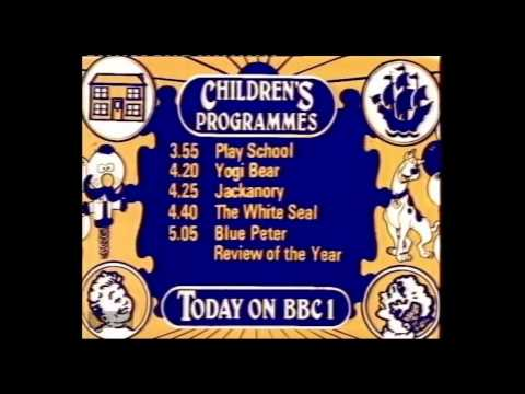 BBC1  Children's Programmes Menu  28121978