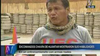 EX COMANDOS CHAVIN DE HUANTAR DEMOSTRANDO SUS HABILIDADES