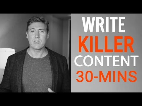 How To Write Killer Content For Your Book in 30 Minutes