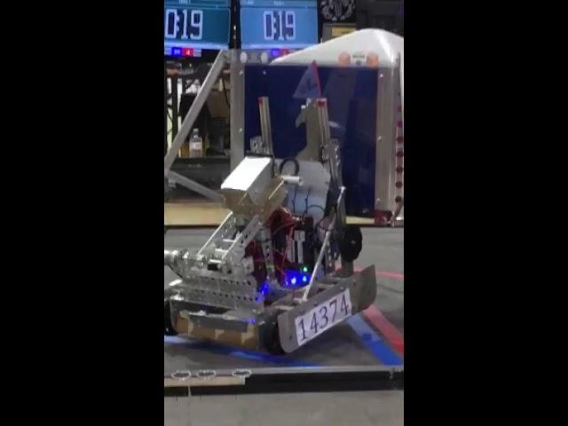 FTC Rover Ruckus, Dark Matter 14373 latching at scrimmage