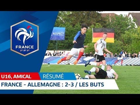 U16, amical : France - Allemagne (2-3), les buts !