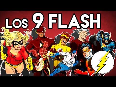Los 9 Flash de DC comics Poderes? Datos? Origen? Velocidad?
