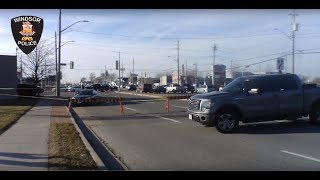 Pedestrian Struck - Windsor Police Accident Reconstruction On Scene