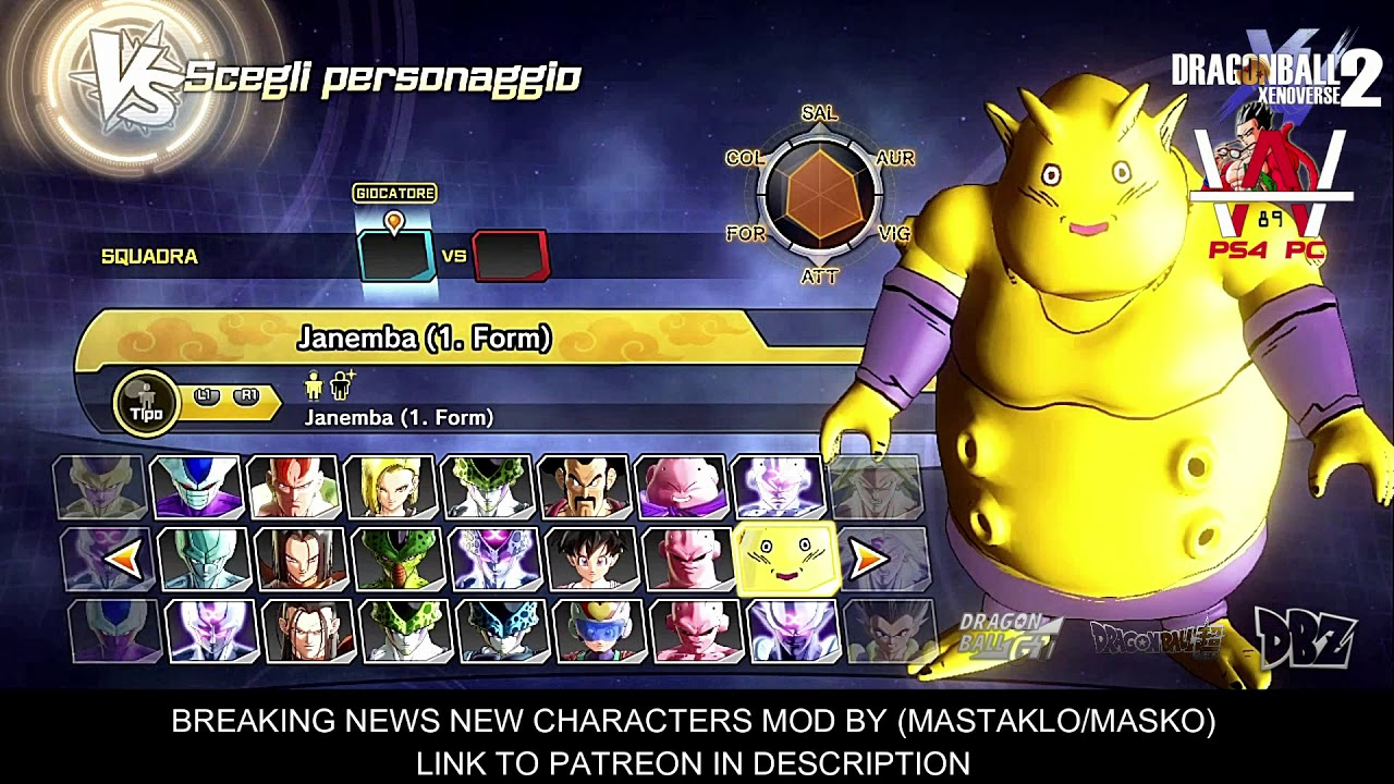 ✪ DRAGON BALL XENOVERSE 2 PC ✪ - LIST MOD CHARACTERS