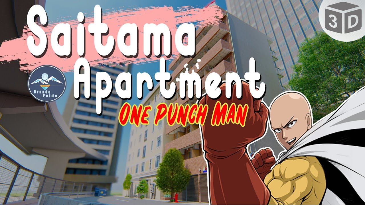 One Punch Man Saitama Apartment