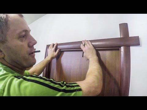 Как поставить наличники на межкомнатные двери видео