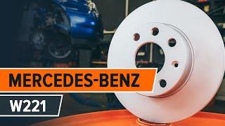 Montering Bromsbeläggsats fram och bak MERCEDES-BENZ S-CLASS: videoinstruktioner