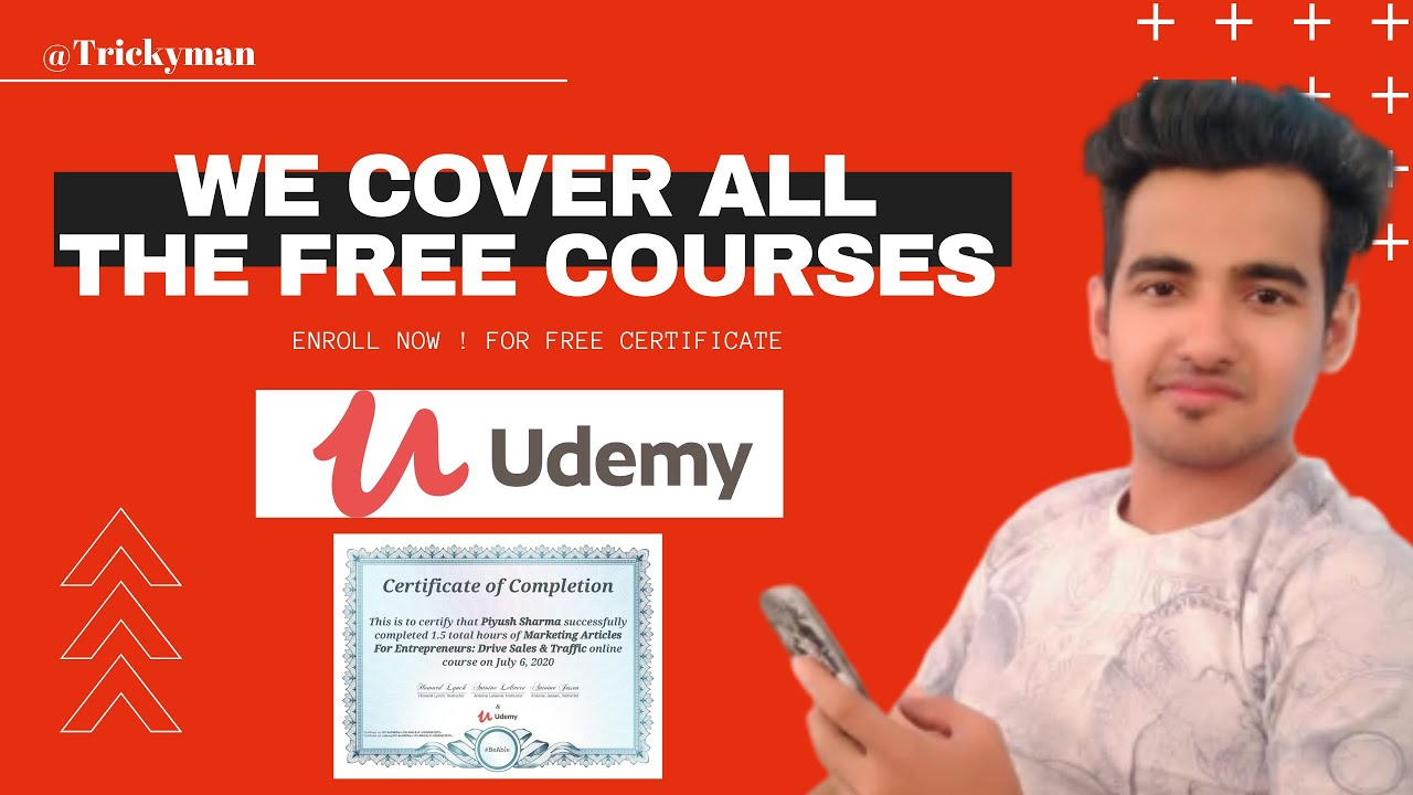 Udemy Free Online Course with Certificate | #freecourses #udemycoupons | 7 August 2020