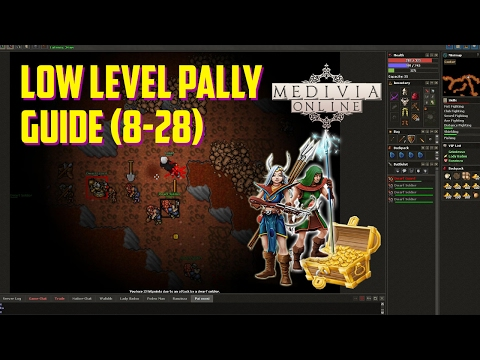 Medivia/Tibia 7.4 Paladin Hunting And Tasks Guide LOW LEVEL! (8-28)