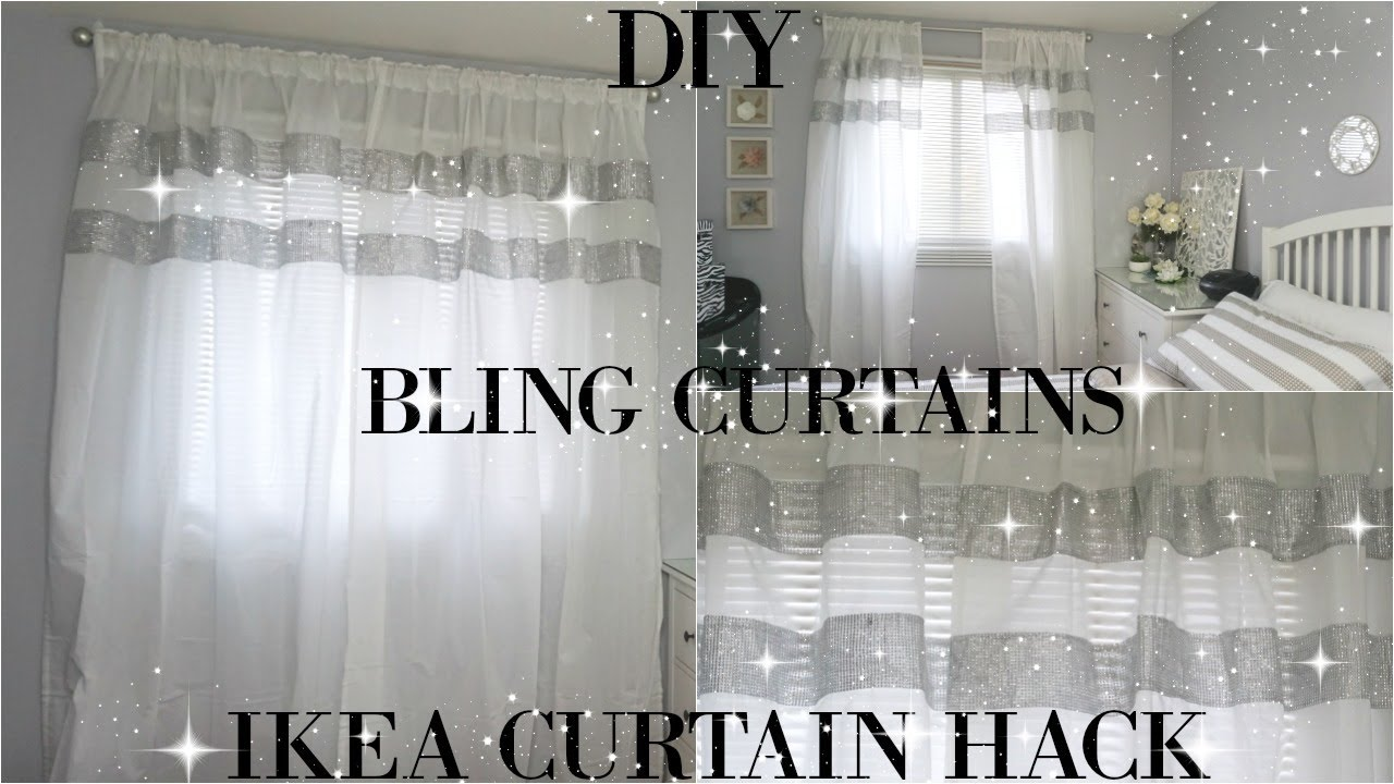 Diy Curtains Totally Dazzled Diy Bling Curtains Ikea