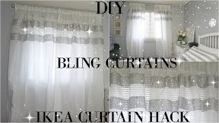 DIY CURTAINS | TOTALLY DAZZLED DIY BLING CURTAINS | IKEA CURTAIN HACK