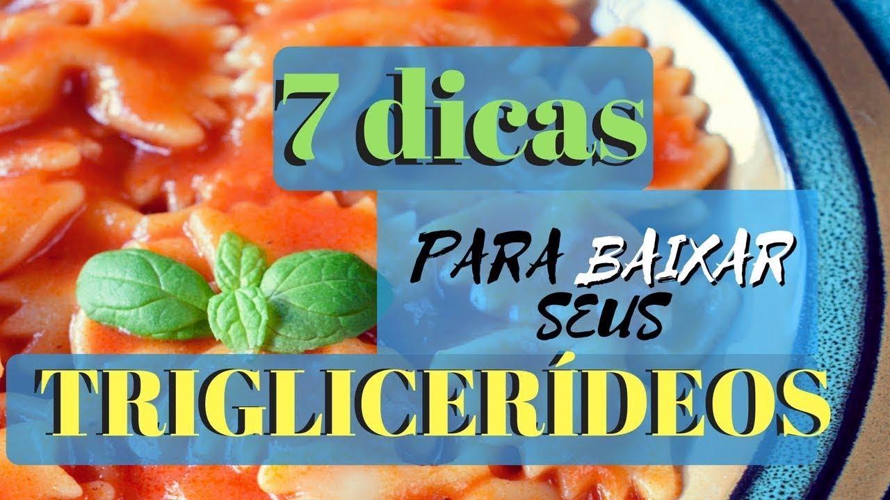 dieta para reduzir triglicérides e colesterol