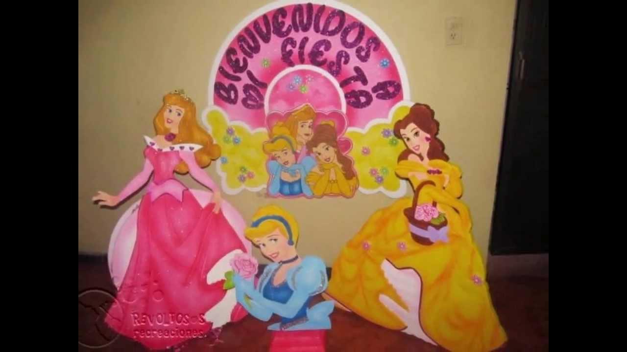Decoracion princesas de disney figuras en icopor youtube - Decoracion fiesta princesas disney ...