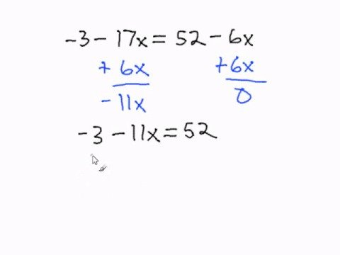 Solving Multi Step Equations With Variables On Both Sides Youtube