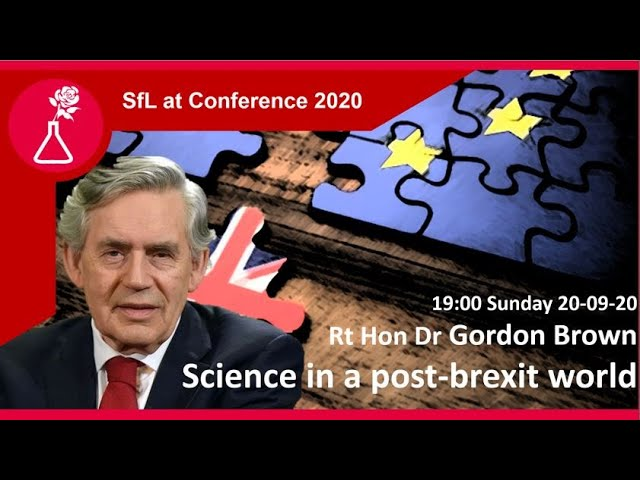 Gordon Brown: Scientific collaboration in a post-Brexit world