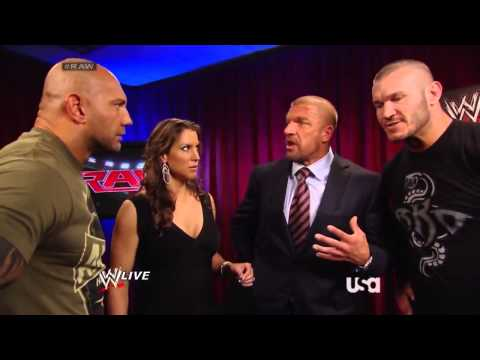 The Authority, Batista, & Randy Backstage