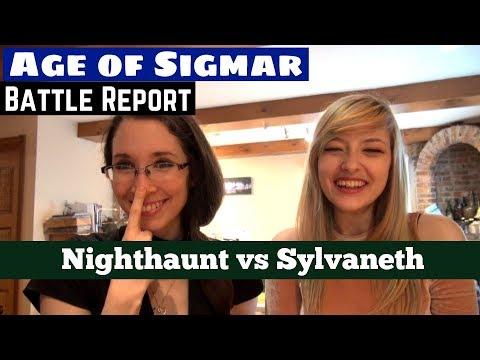 Age of Sigmar Battle Report Nighthaunt versus Sylvaneth 1000pts