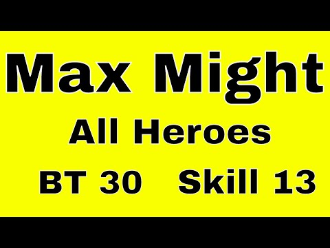 Castle Clash Maximum Might: All Heroes BT 30 And Skill 13