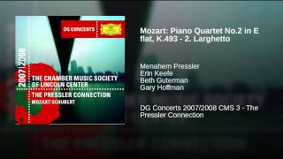 Mozart: Piano Quartet No.2 in E flat, K.493 - 2. Larghetto