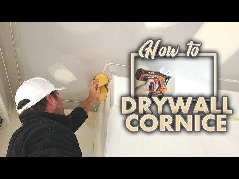 How To Install A Drywall Corner Crown Molding Cove Cornice