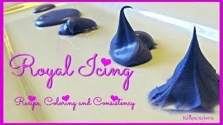 How to make Royal Icing   Royal Icing Coloring and Consistency  💜