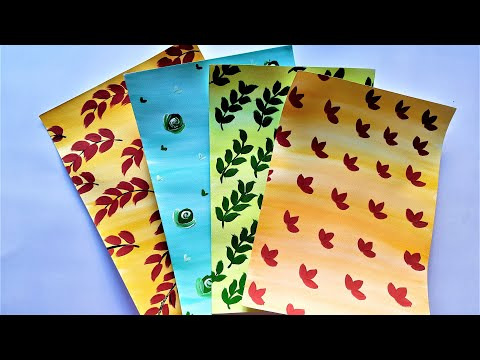 How to Make Homemade Pattern sheets | Easy Handmade Design Papers | Tutorial